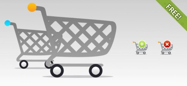 Free shopping cart pictogrammen