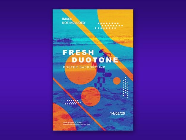 Fresco design bicolore mockup poster