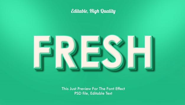 Fris lettertype-effect