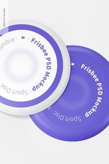 Frisbee mockup, close-up