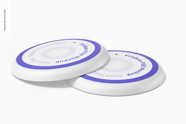 Frisbees mockup-weergave