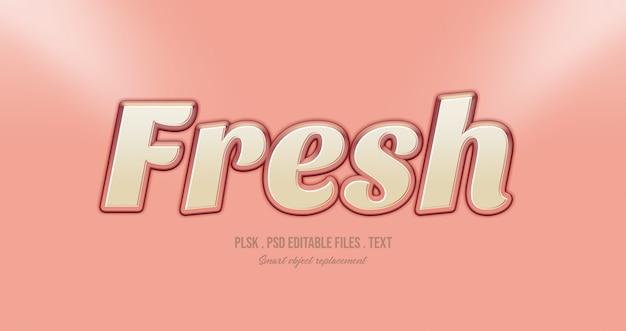 Frisse 3d tekststijl effect