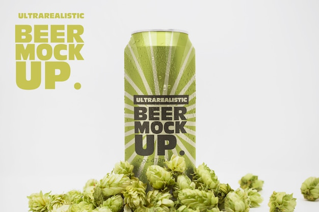 Front beer can mockup