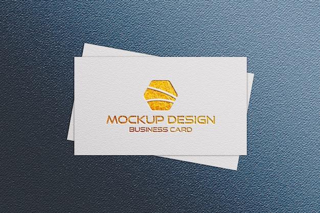 Front visitekaartje logo mockup