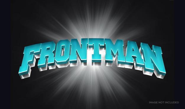 Frontman 3d-tekststijleffectsjabloon