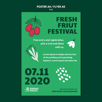 Fruit festival sjabloon poster