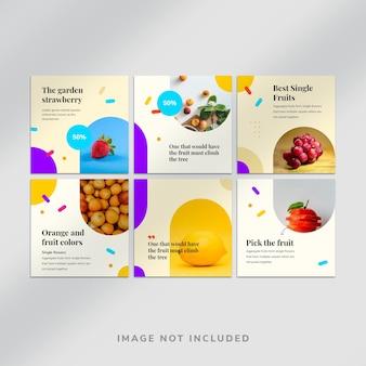 Fruit instagram social media post-sjabloon