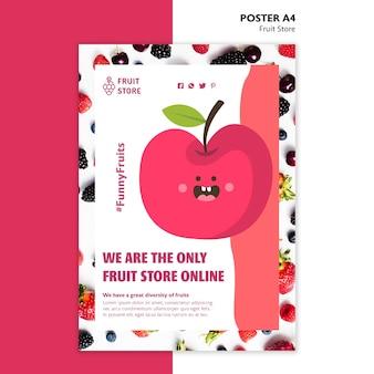 Fruit winkel poster sjabloon