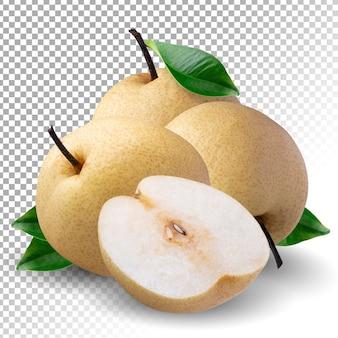 Fruta de pera china aislada