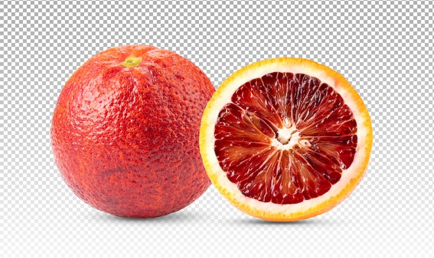 Frutta arancia rossa isolata