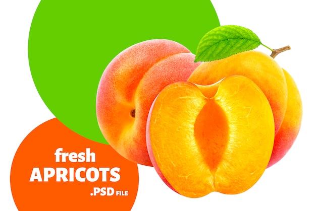 Frutti di albicocca freschi