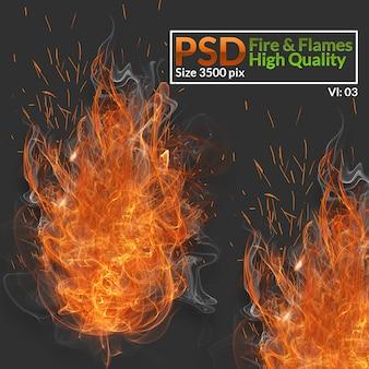 Fuego y llamas de alta calidad