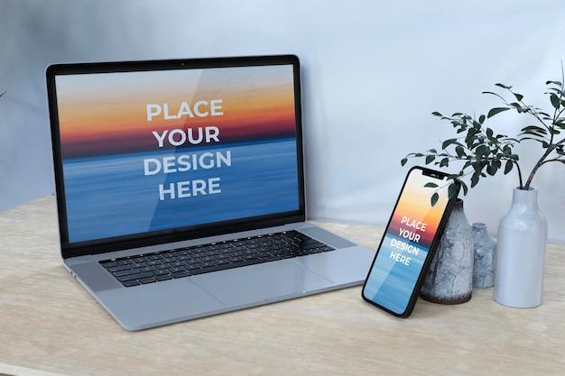 Full-screen-smartphone-en-laptop-mockup-ontwerp