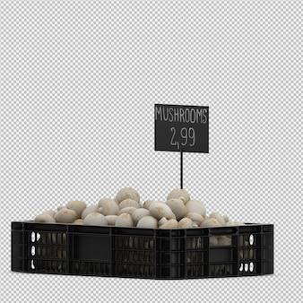Funghi isometrici in un cestino