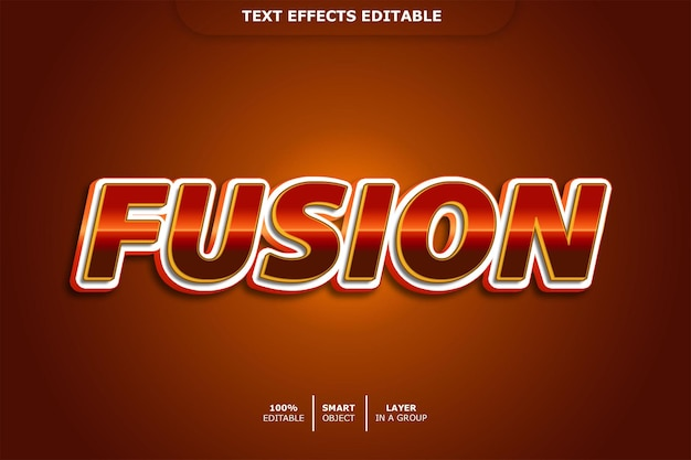 Fusion teksteffect bewerkbaar