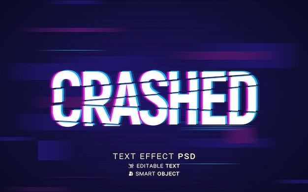 Futuristisch glitch-teksteffect