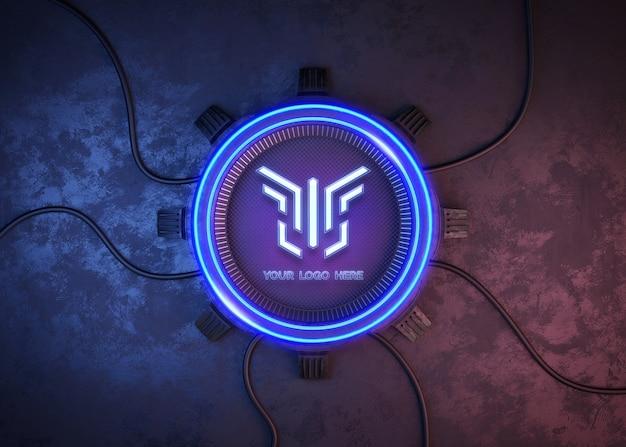 Futuristische cirkel voor logo mockup Premium Psd