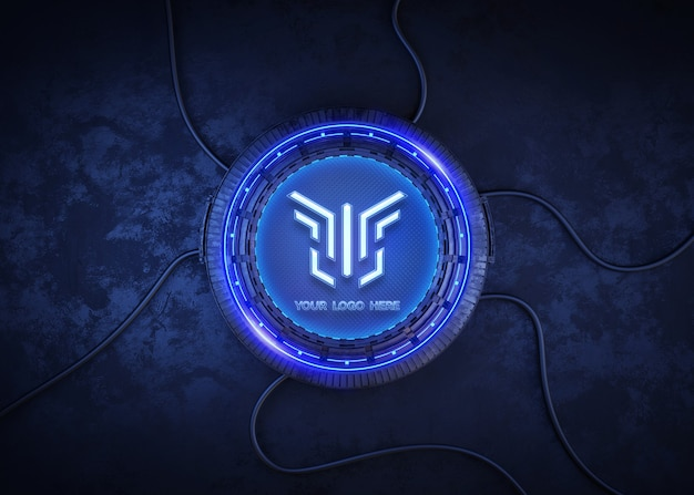 Futuristische cirkel voor logo mockup