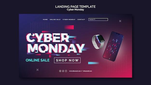 Futuristische cyber maandag bestemmingspagina sjabloon