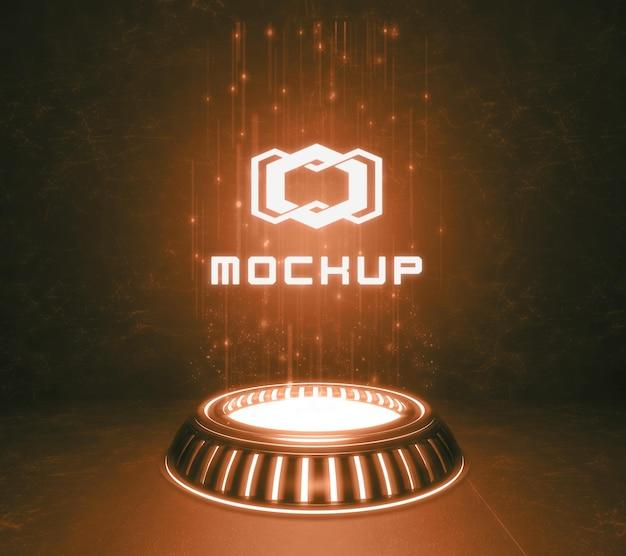 Futuristische logo-effectprojectie