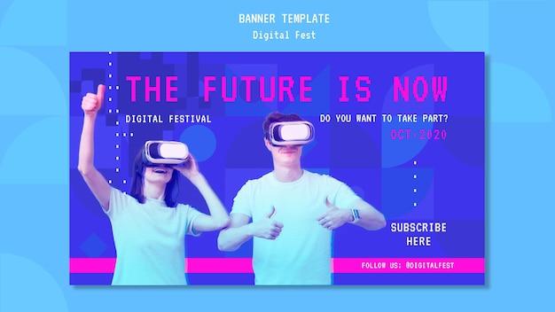 El futuro es ahora plantilla de banner.