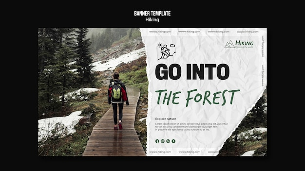 Ga naar de banner-sjabloon voor het bos