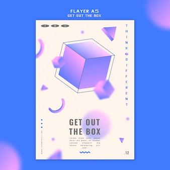 Ga uit de doos flyer concept-sjabloon