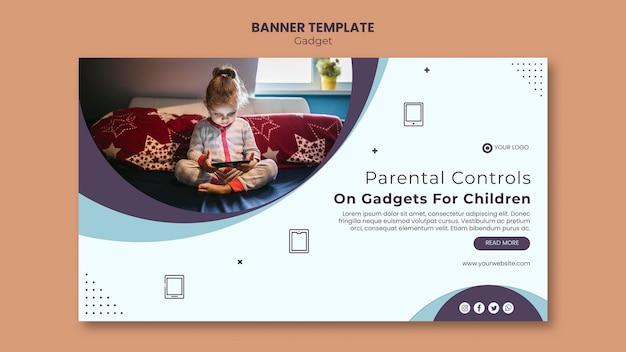 Gadget-impact op het ontwerp van de banner van kinderen