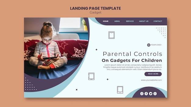 Gadgetimpact op websjabloon voor kinderen