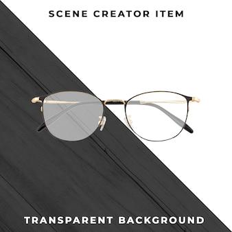 Gafas aisladas con trazado de recorte