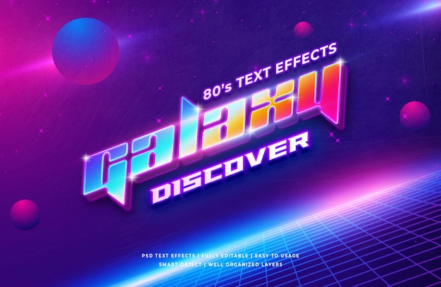 Galaxy 3d-tekststijleffect