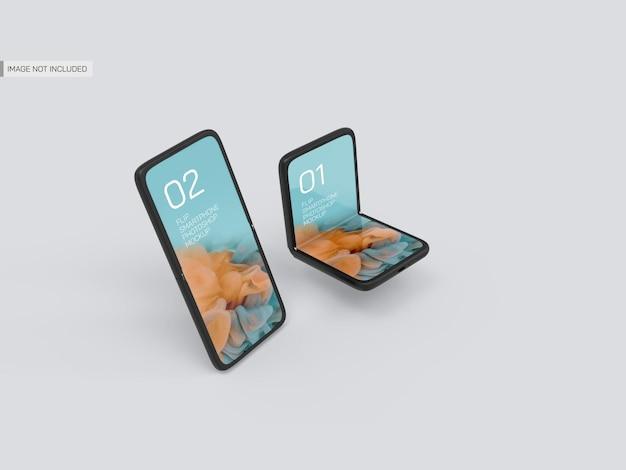 Galaxy flip mobiel mockup