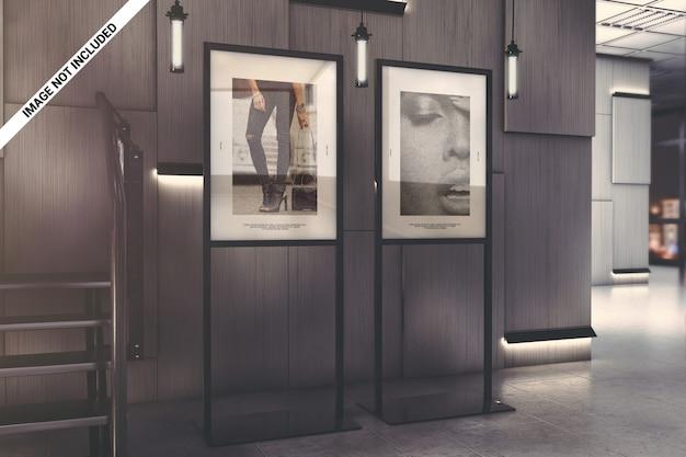 Galerie tentoonstelling poster mockup