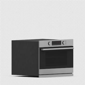 Gama isométrica de cocina render 3d