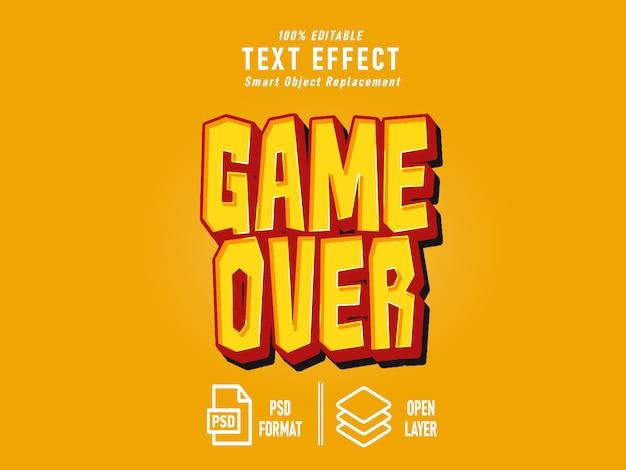 Game over teksteffect
