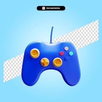 Gamepad 3d render illustratie geïsoleerd