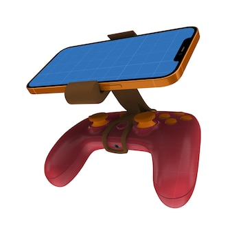 Gamepad telefoon mock up