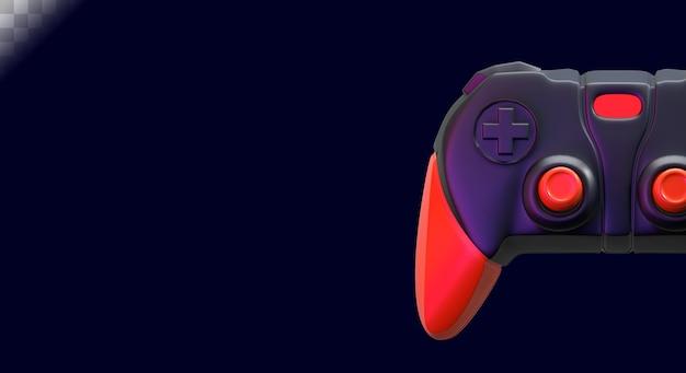 Gamerachtergrond met joystick