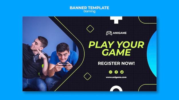 Gaming concept sjabloon voor spandoekontwerp
