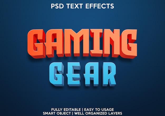 Gaming-teksteffect