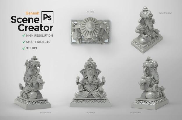 Ganesh creador de escena. 3d