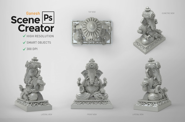 Ganesh. creatore di scene. 3d