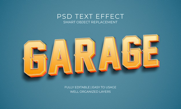 Garage tekst effect