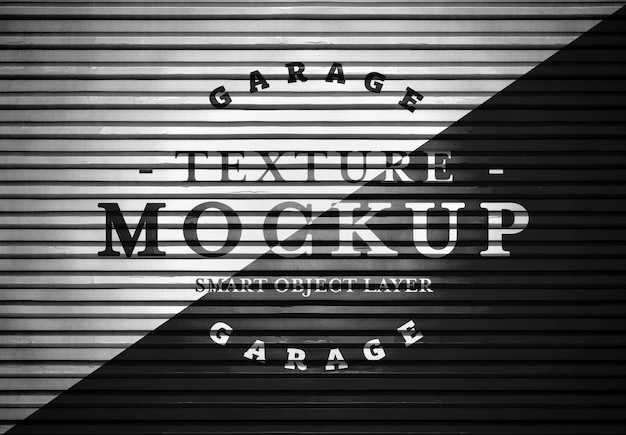 Garagedeur textuur mockup