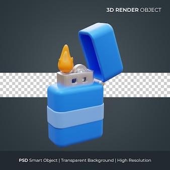 Gasaansteker pictogram 3d render illustratie geïsoleerd premium psd