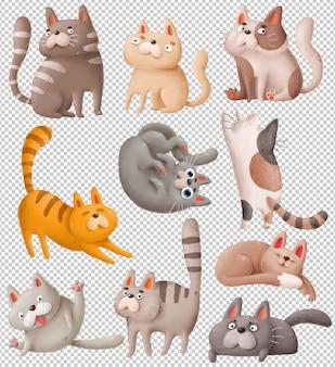Gatos de dibujos animados