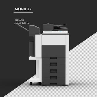 Geã¯soleerde fotokopieerapparaat machine van vooraanzicht