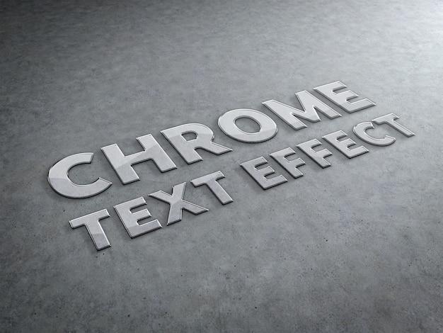 Gebeeldhouwd teksteffect in chroom