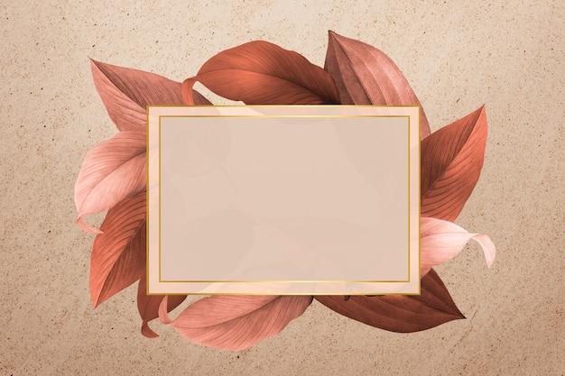 Gebladerte versierd frame