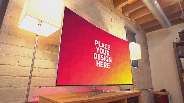 Gebogen tv-mockup